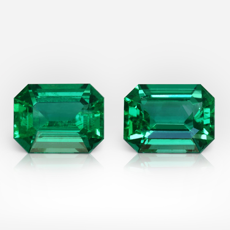 EME_Emerald shape_Vivid_3.46_Pair_Zambia_SITE_1